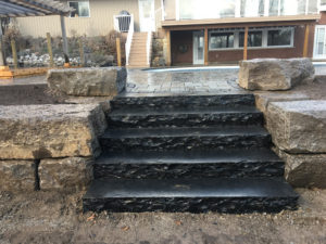 Guillotined Natural Stone Staircase