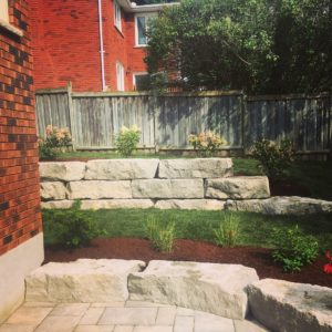 Small armour stone wall