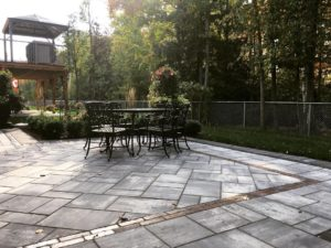 Elegant backyard interlock