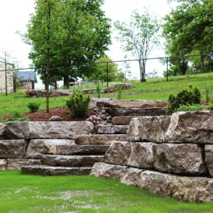 Armour Stone Wall and Staircase